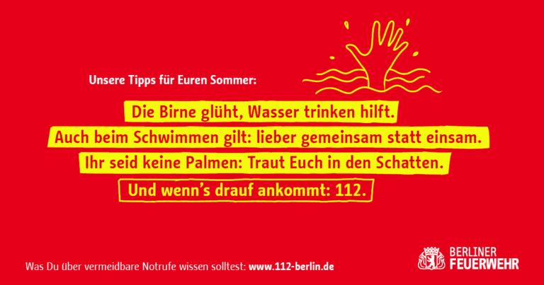Kampagen-Sharepic mit Tipps für den Sommer