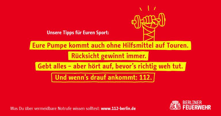 Kampagen-Sharepic mit Tipps für den Sport
