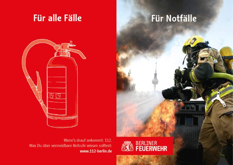 Kampagen-Werbemotiv zum Thema Brandbekämpfung