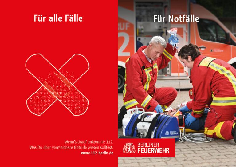Kampagen-Werbemotiv zum Thema Notfallrettung
